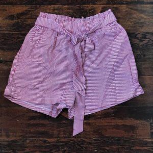 Striped comfy shorts